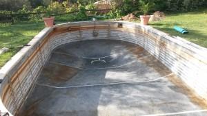 Reparacion de piscina -Piscina lista para reparar y poner liner
