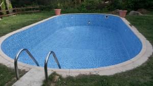 Reparación de piscina - Otra perspectiva de la piscina lista con el liner nuevo
