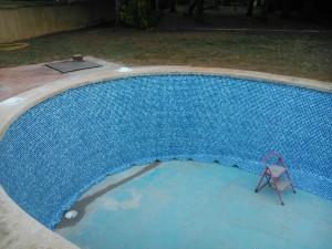Reparación de piscina - instalacion de pvc liner