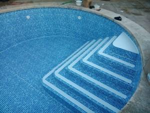 Reparación de piscina - trabajo terminado